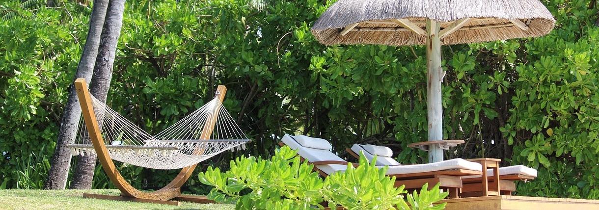 Soportes para Hamacas hamaca y camas en una playa