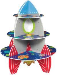 Soporte para CupCakes con diseño de cohete